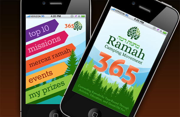 Ramah365: An app for Social Network Gaming to Promote Year-Round Educational Engagement and Networking Among Ramah Staff and Teen Campers.