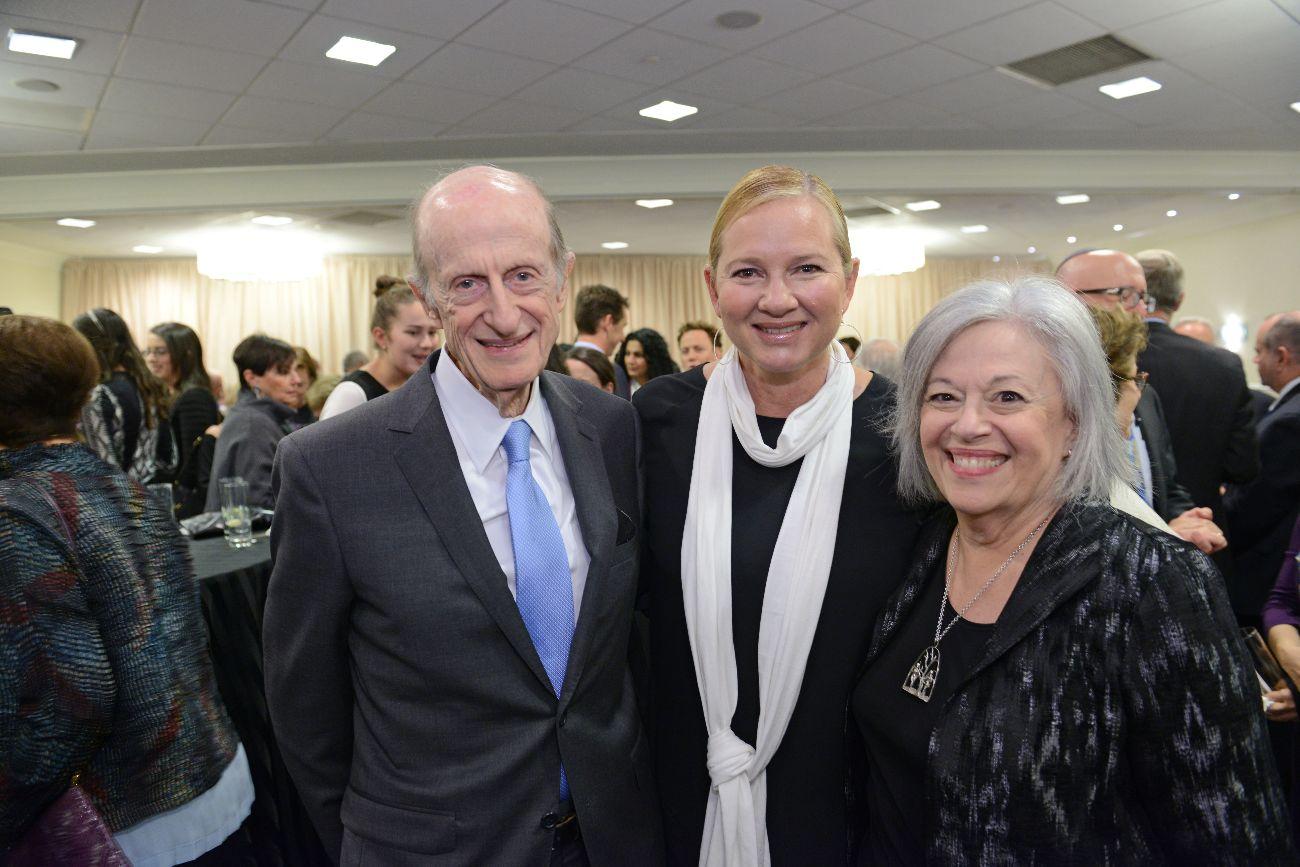 From left to right-Eli N. Evans, Karina Zilberman and Cheryl Finkel