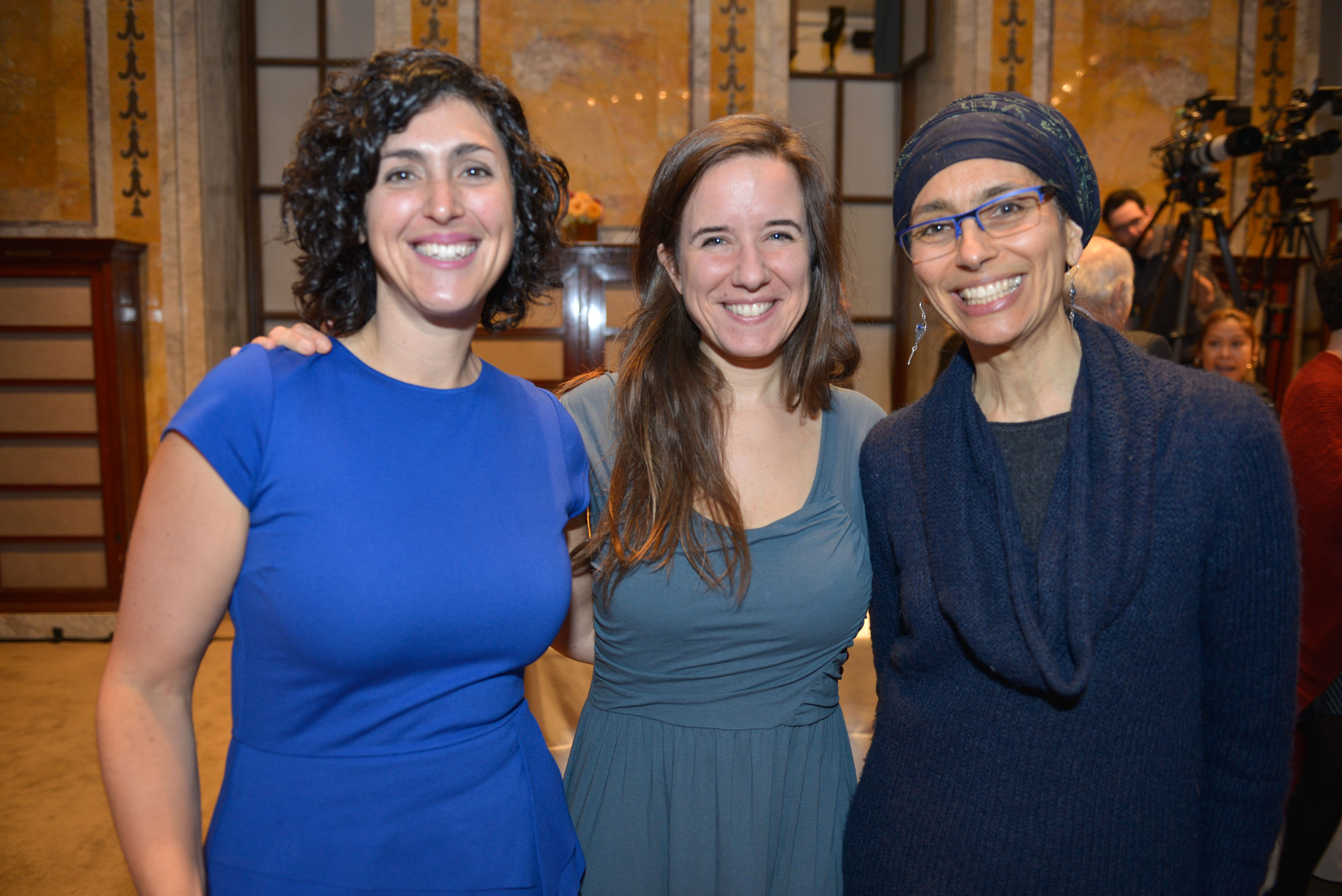 From left: 2018 Pomegranate Prize Recipient Rabbi Adina Allen, Rebecca Bloomfield, and Dr. Ronit Ziv-Kreger.