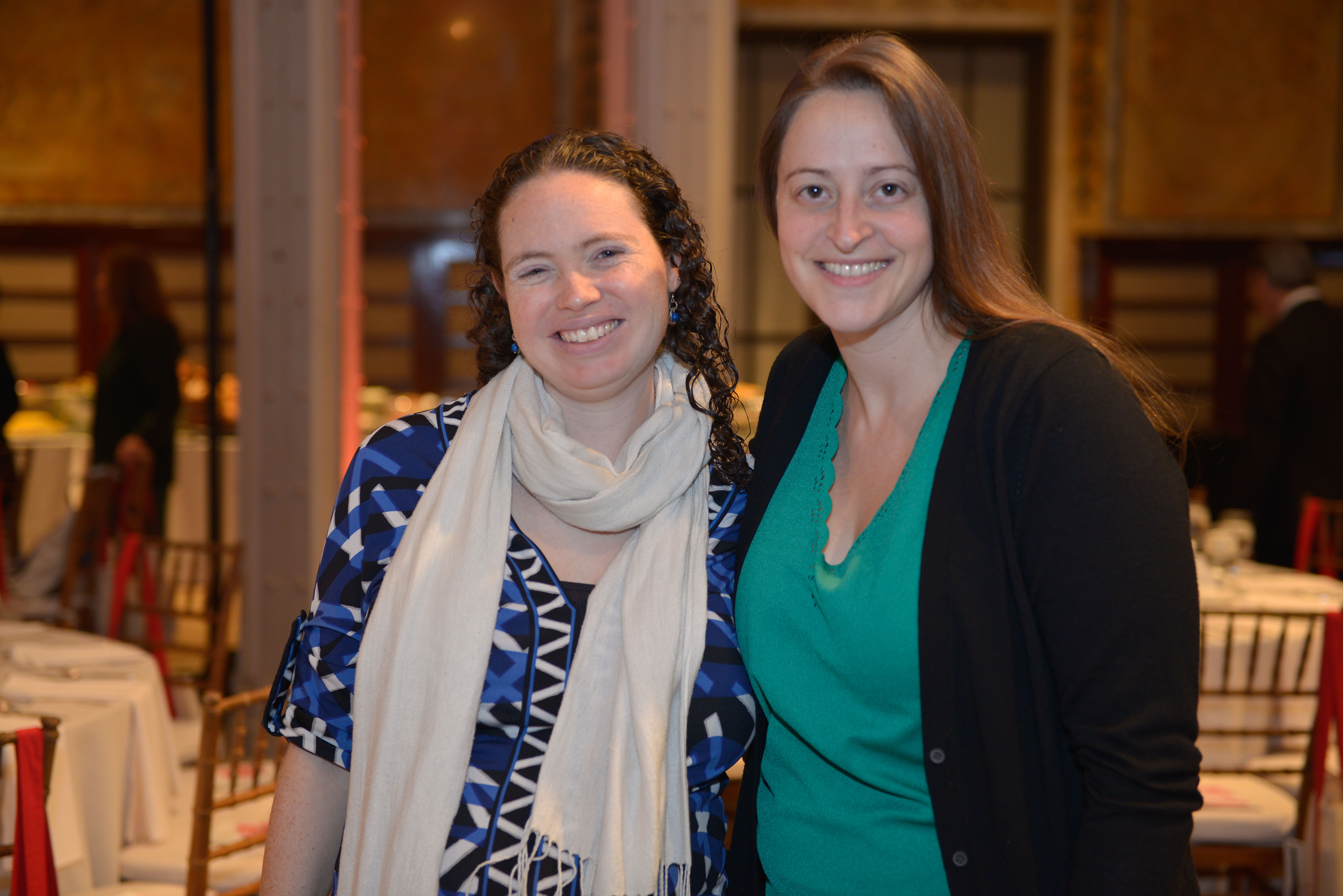 From left: 2015 Pomegranate Prize recipient Erica Belkin Allen and 2017 Pomegranate Prize recipient Aliza Goodman.