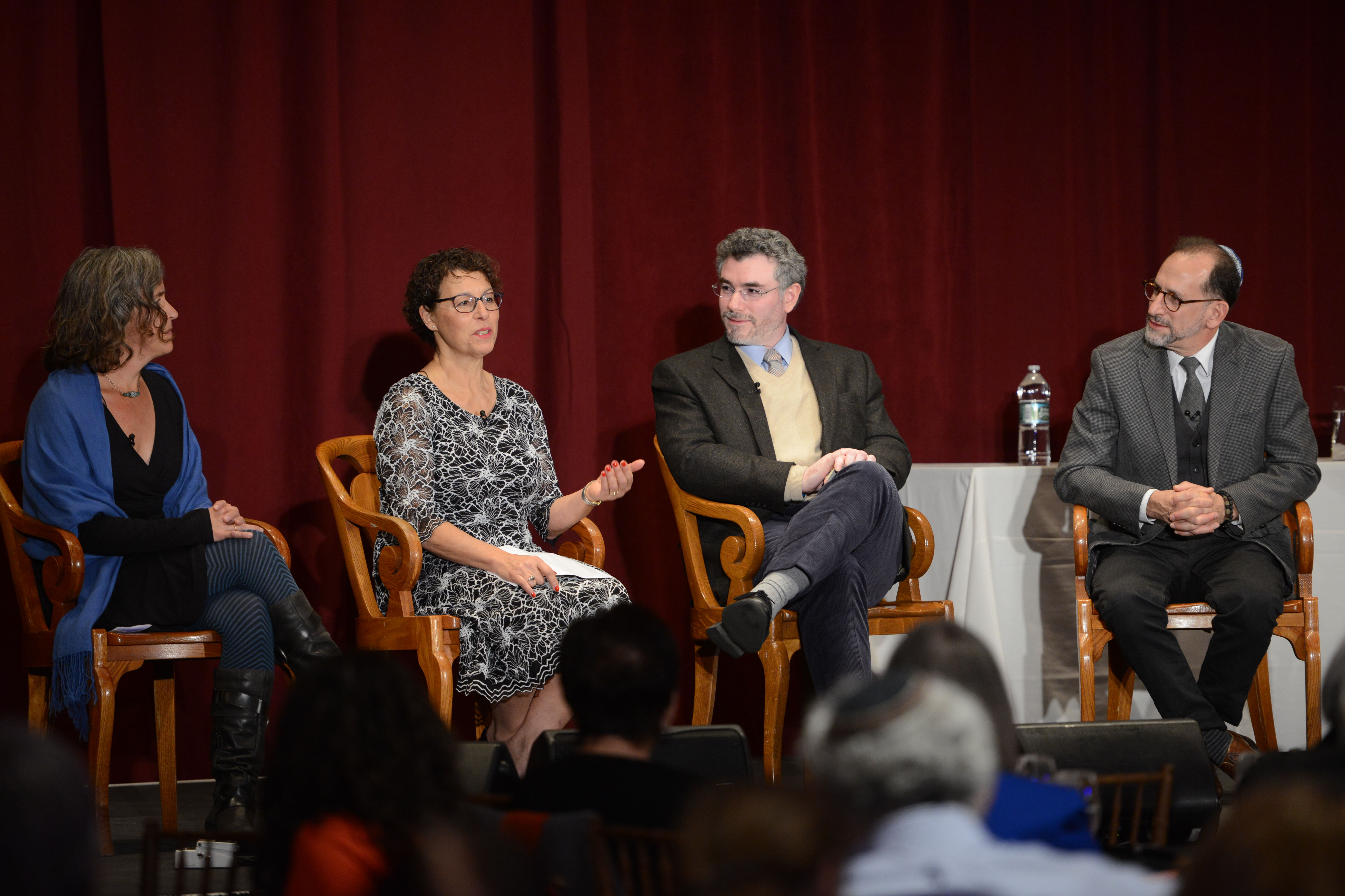 Educating Jewishly to Live Wisely panelists. From left: Sue Bojdak, 2017 Covenant Award Recipient Jane Shapiro, Rabbi Dr. Ariel Burger, and Dr. Bill Robinson.
