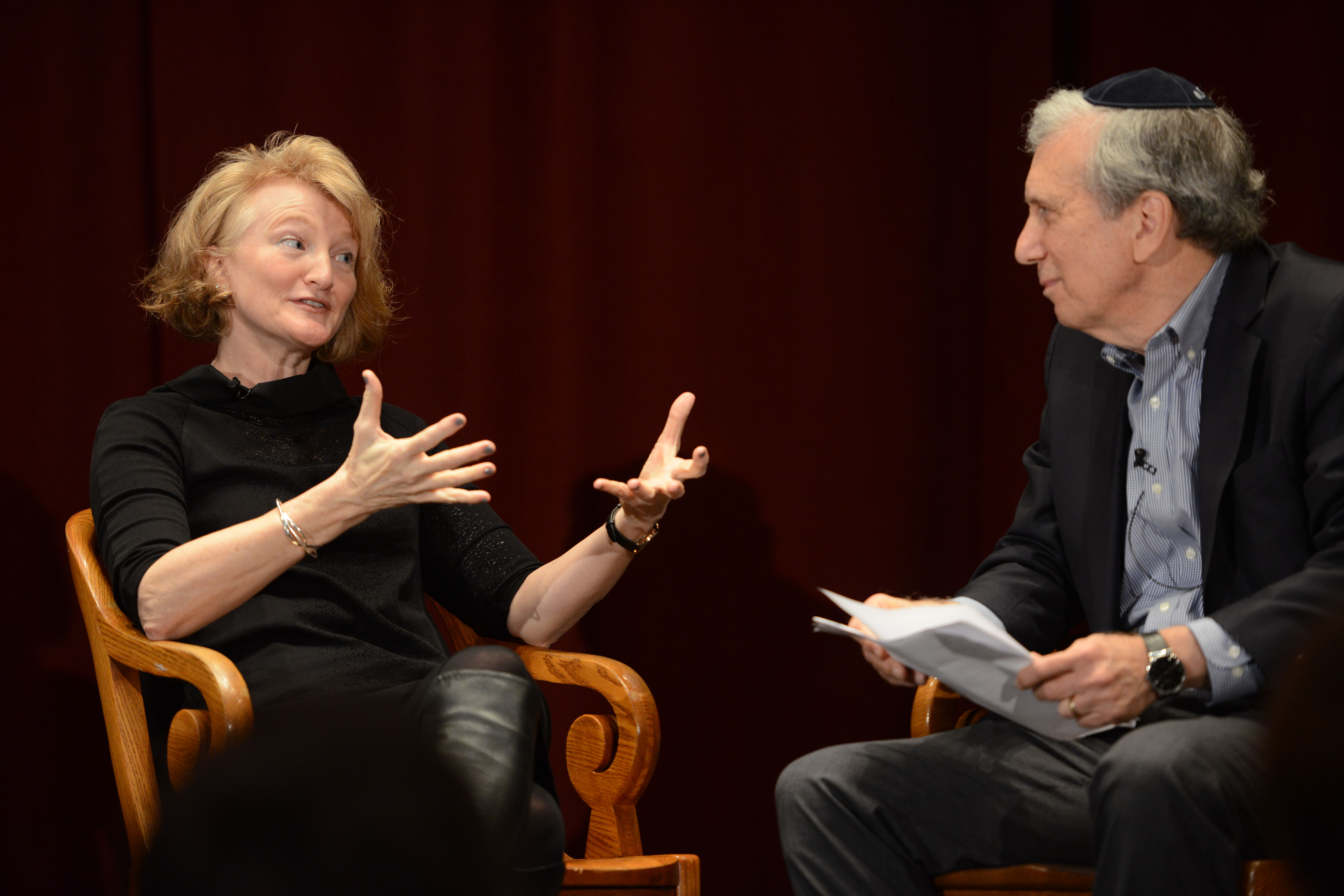Krista Tippett and Covenant Board member Dr. Arnold M. Eisen, Chancellor of The Jewish Theological Seminary.