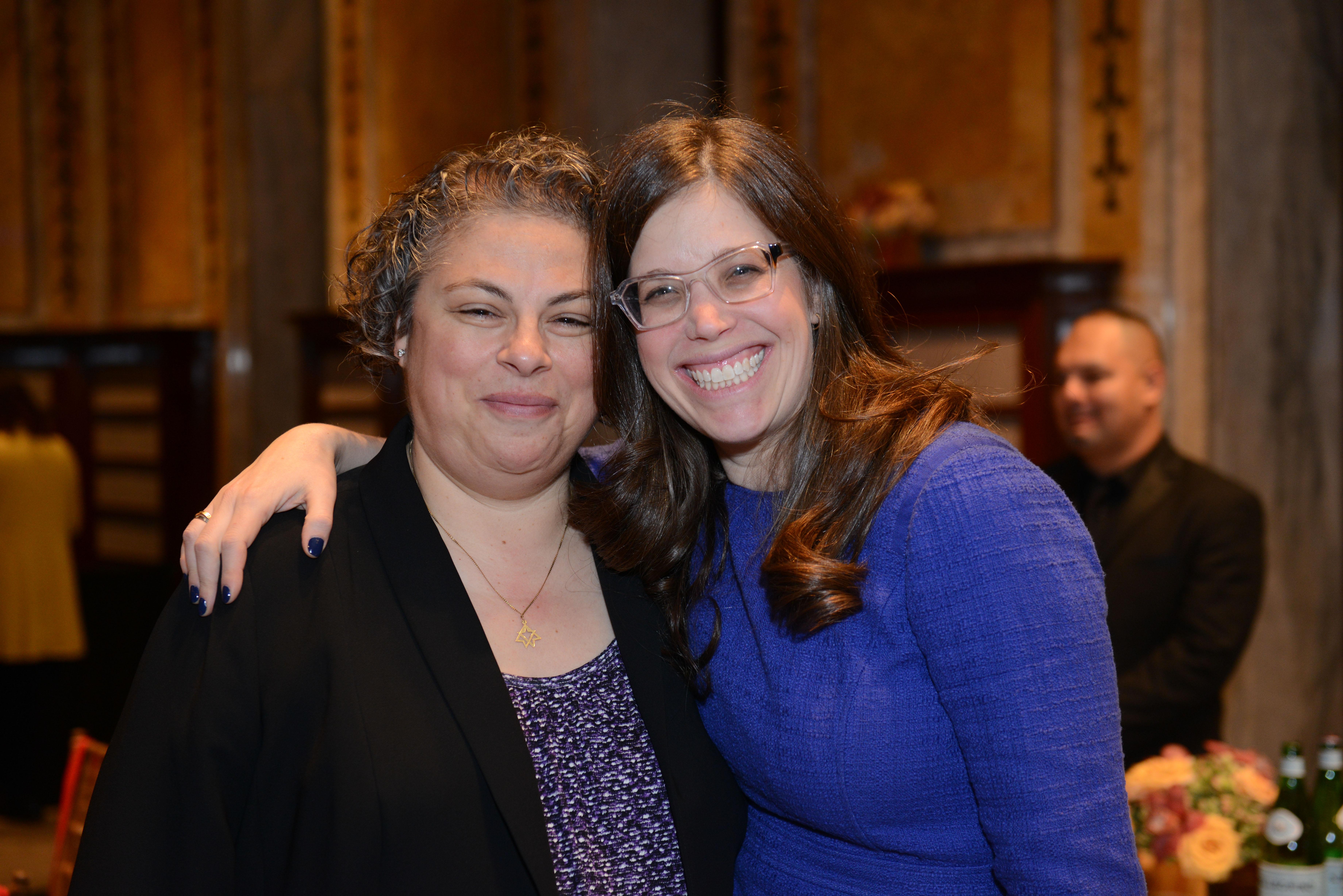 From left: Rabbi Melanie Levav and Sarah Raful Whinston.